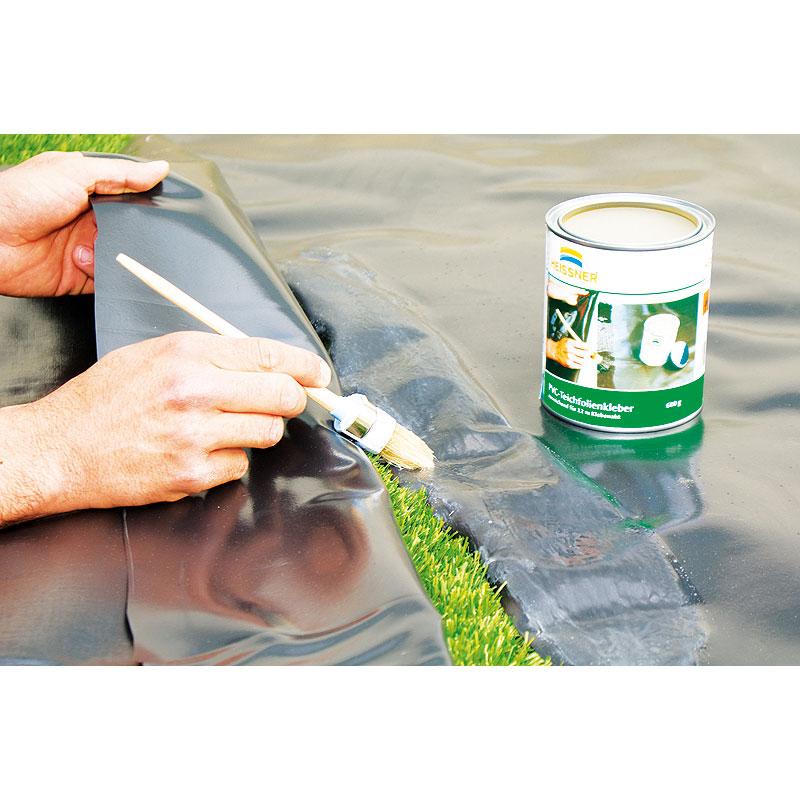 Как склеить пленку для пруда