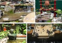 примеры садовых водопадов