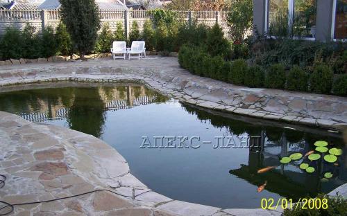 Плавальний ставок. Ставок виконано в 2008 році з плівки ПВХ.