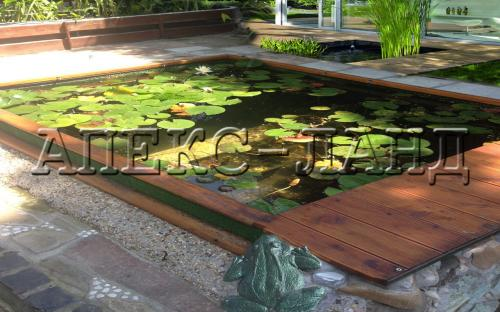 Искусственный пруд для водных растений - водный сад